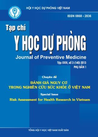 Cover of special issue of Vietnam Journal of Preventive Medicine on risk assessment