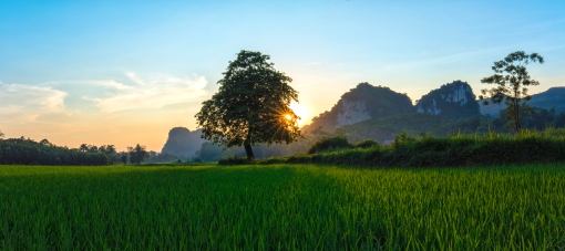 Landscape in Hoa Binh province, northwest of Vietnam